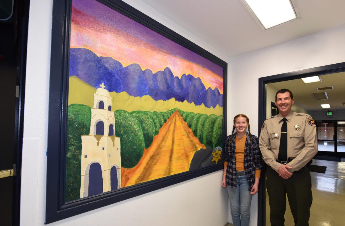 Aubrey Larson with Capt. Fryhoff